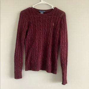 Ralph Lauren Maroon Sweater